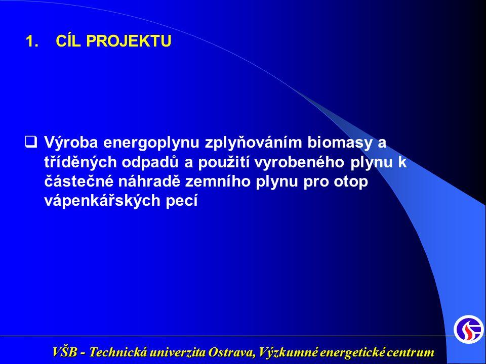 VŠB - Technická univerzita Ostrava, Výzkumné energetické centrum  Výroba energoplynu zplyňováním biomasy a tříděných odpadů a použití vyrobeného plyn