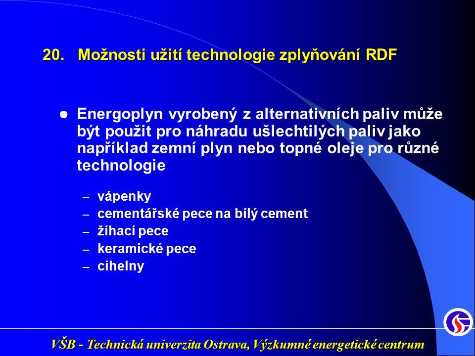 VŠB - Technická univerzita Ostrava, Výzkumné energetické centrum Energoplyn vyrobený z alternativních paliv může být použit pro náhradu ušlechtilých p
