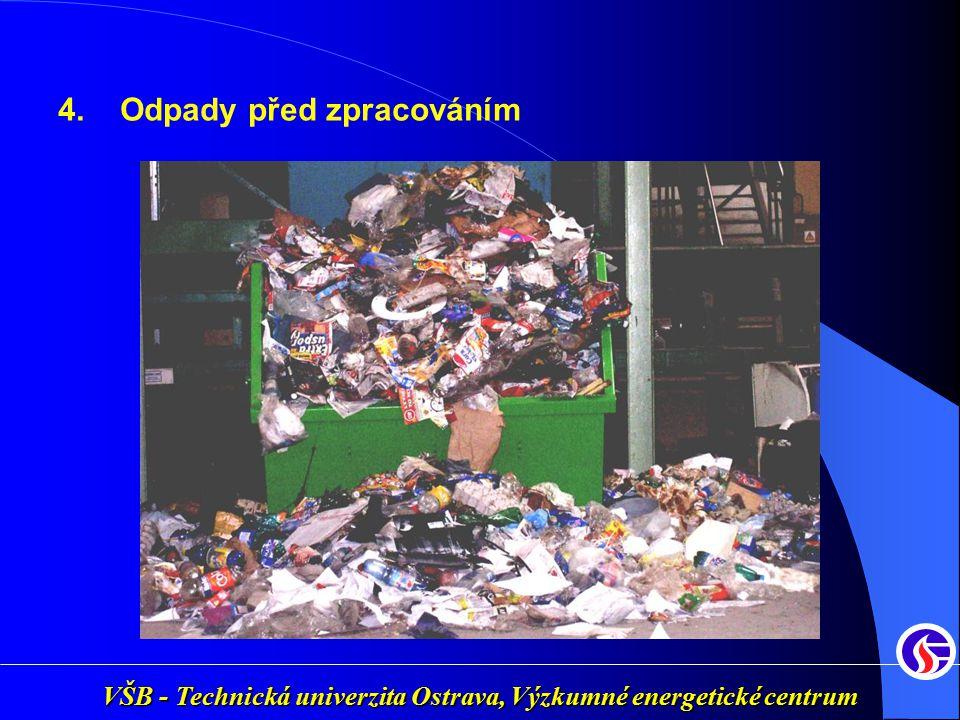 VŠB - Technická univerzita Ostrava, Výzkumné energetické centrum 4. Odpady před zpracováním