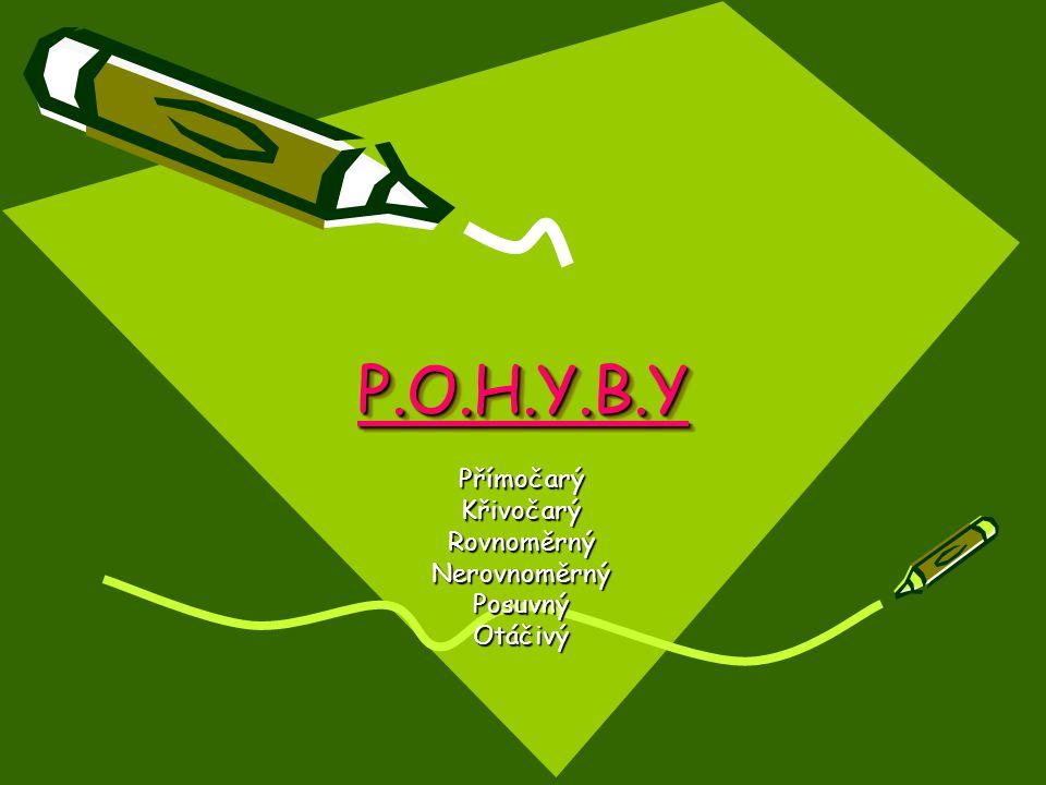 P.O.H.Y.B.YP.O.H.Y.B.Y PřímočarýKřivočarýRovnoměrnýNerovnoměrnýPosuvnýOtáčivý