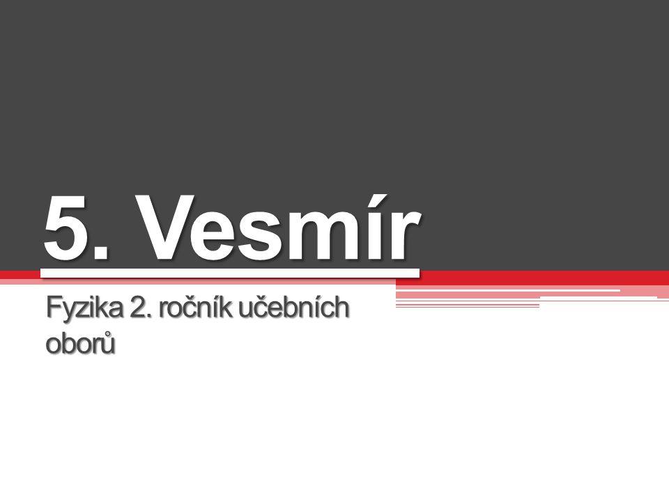  INVESTICE DO ROZVOJE VZDĚLÁVÁNÍ Projekt Modernizace výuky všeobecně vzdělávacích a odborných předmětů v SOŠ Josefa Sousedíka Vsetín prostřednictvím využití ICT je spolufinancován Evropským sociálním fondem a státním rozpočtem České republiky Vesmír Fyzika učební obory druhý Mgr.