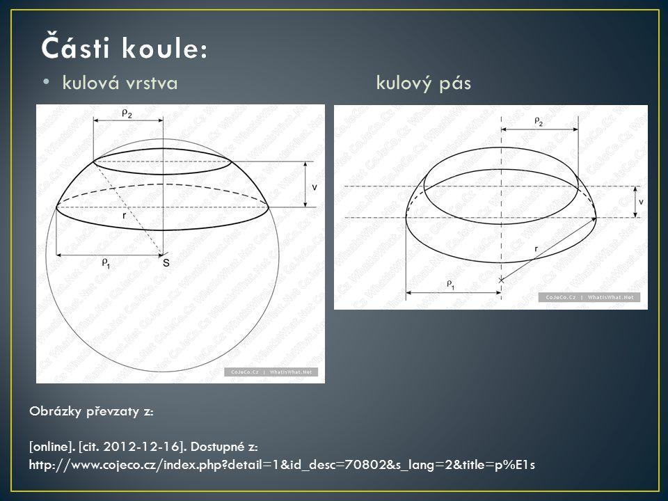 kulová vrstvakulový pás Obrázky převzaty z: [online]. [cit. 2012-12-16]. Dostupné z: http://www.cojeco.cz/index.php?detail=1&id_desc=70802&s_lang=2&ti