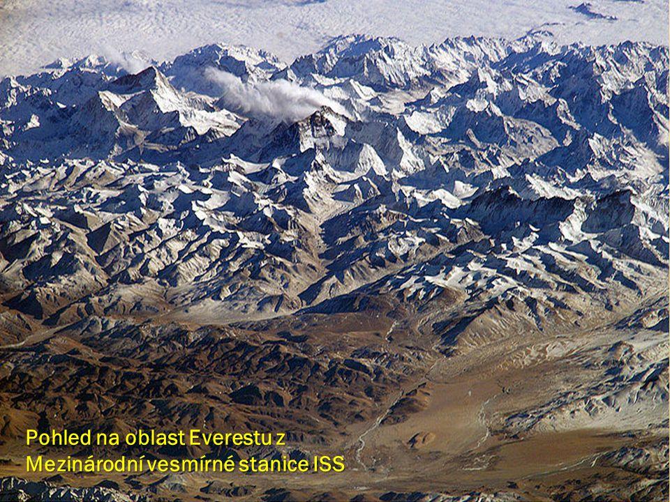 Pohled na oblast Everestu z Mezinárodní vesmírné stanice ISS