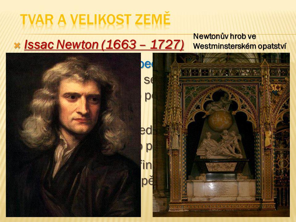  Issac Newton (1663 – 1727)  popisuje zákon všeobecné gravitace a tři zákony pohybu, které se na další tři staletí staly základem vědeckého pohledu na fyzický vesmír  Dokázal, že pohyb předmětů na Zemi se řídí stejnými pravidly jako pohyb vesmírných těles  Tím se zasloužil o definitivní zamítnutí heliocentrismu a přispěl k vědecké revoluci………..