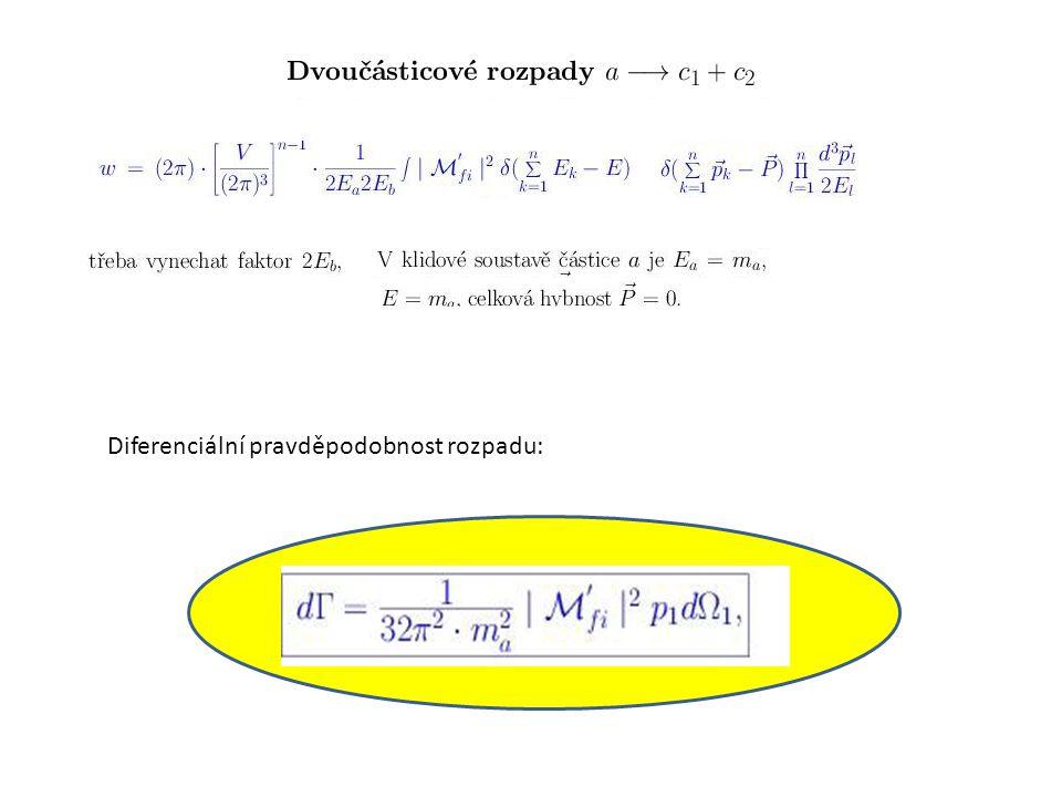 Diferenciální pravděpodobnost rozpadu: