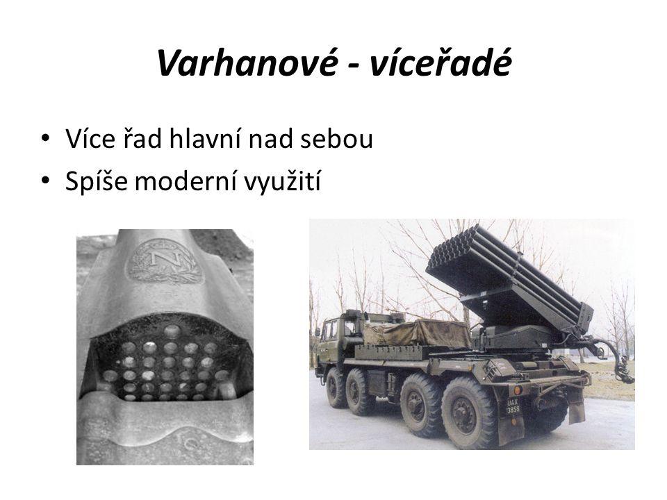 Varhanové - víceřadé Více řad hlavní nad sebou Spíše moderní využití