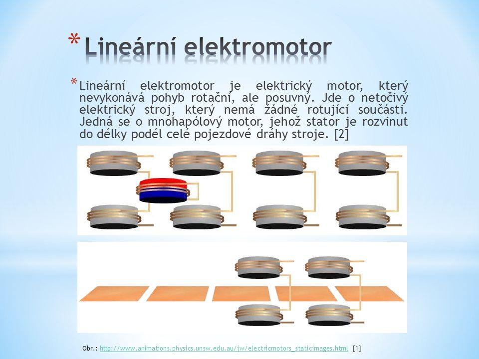 * Lineární elektromotor je elektrický motor, který nevykonává pohyb rotační, ale posuvný. Jde o netočivý elektrický stroj, který nemá žádné rotující s