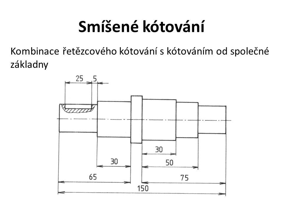 Smíšené kótování Kombinace řetězcového kótování s kótováním od společné základny