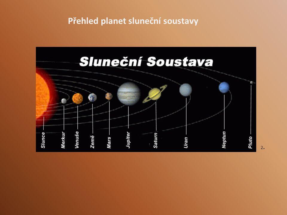Přehled planet sluneční soustavy 2.2.