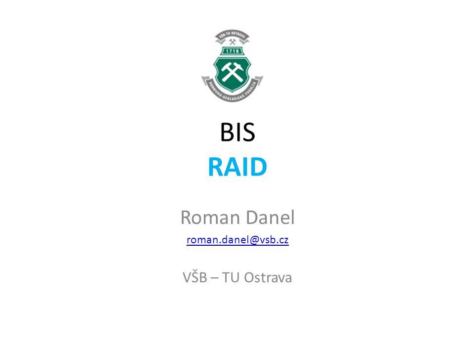 RAID-2 Čtyři disky – uložení dat, tři disky – informace pro opravu chyb Disky jsou synchronizovány, takže na všech discích jsou hlavy ve stejné pozici – z hlediska otáčení disku a vystavení.