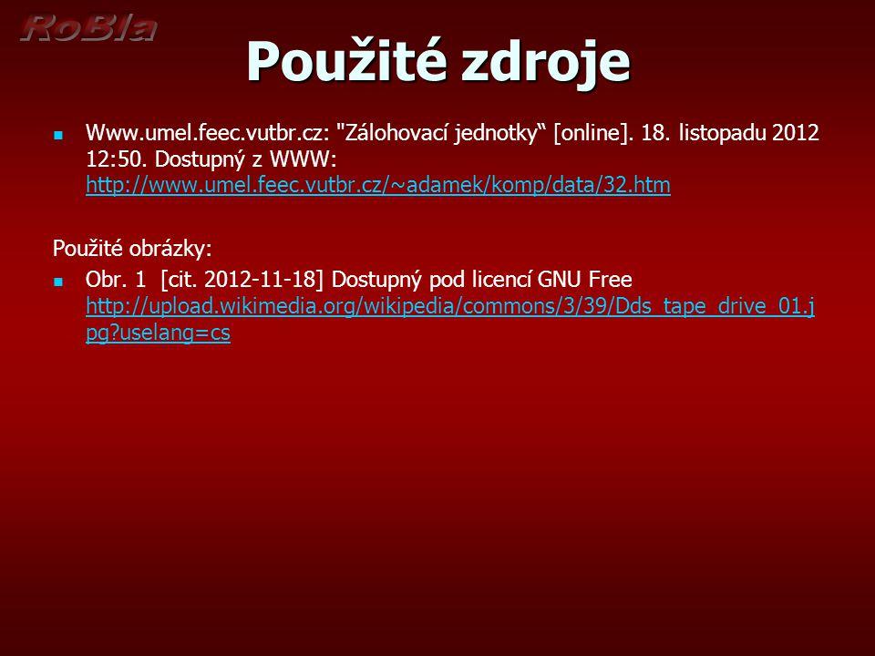 Použité zdroje Www.umel.feec.vutbr.cz: