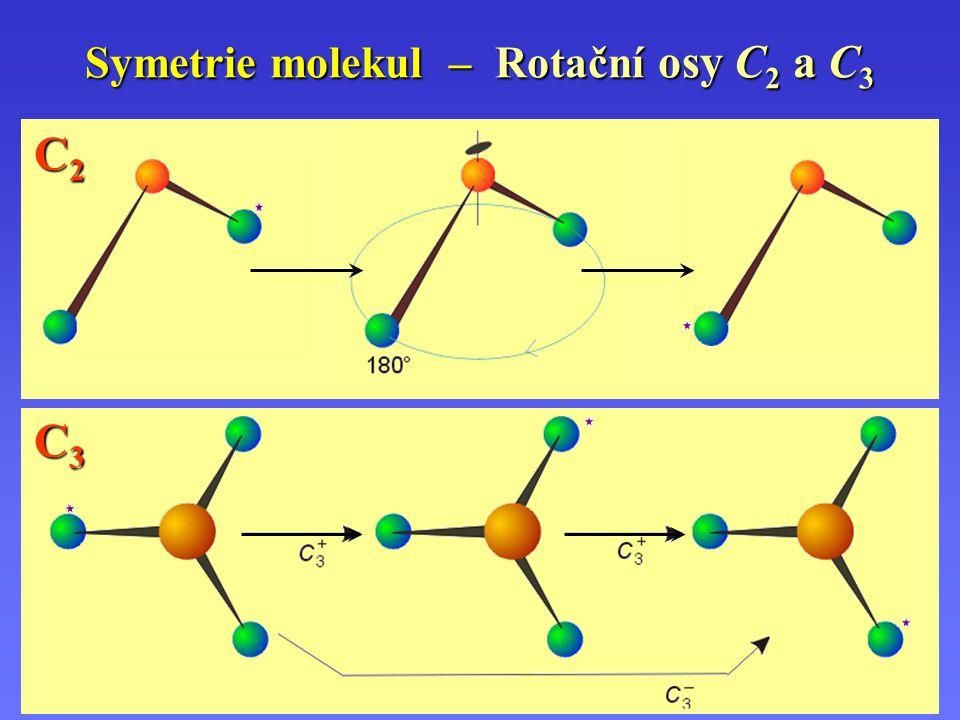 Symetrie molekul – Rotační osy C 2 a C 3 C2C2C2C2 C3C3C3C3