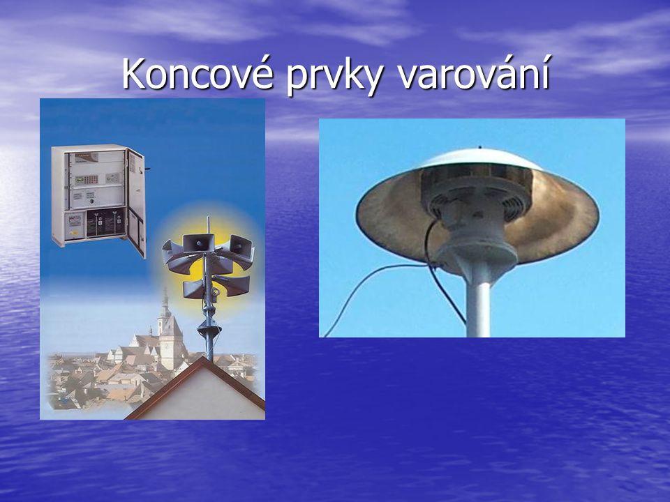 Koncové prvky varování ● elektromechanické sirény – rotační sirény ● elektronické sirény – umožňují odvysílat doplňující verbální informaci (možno i s