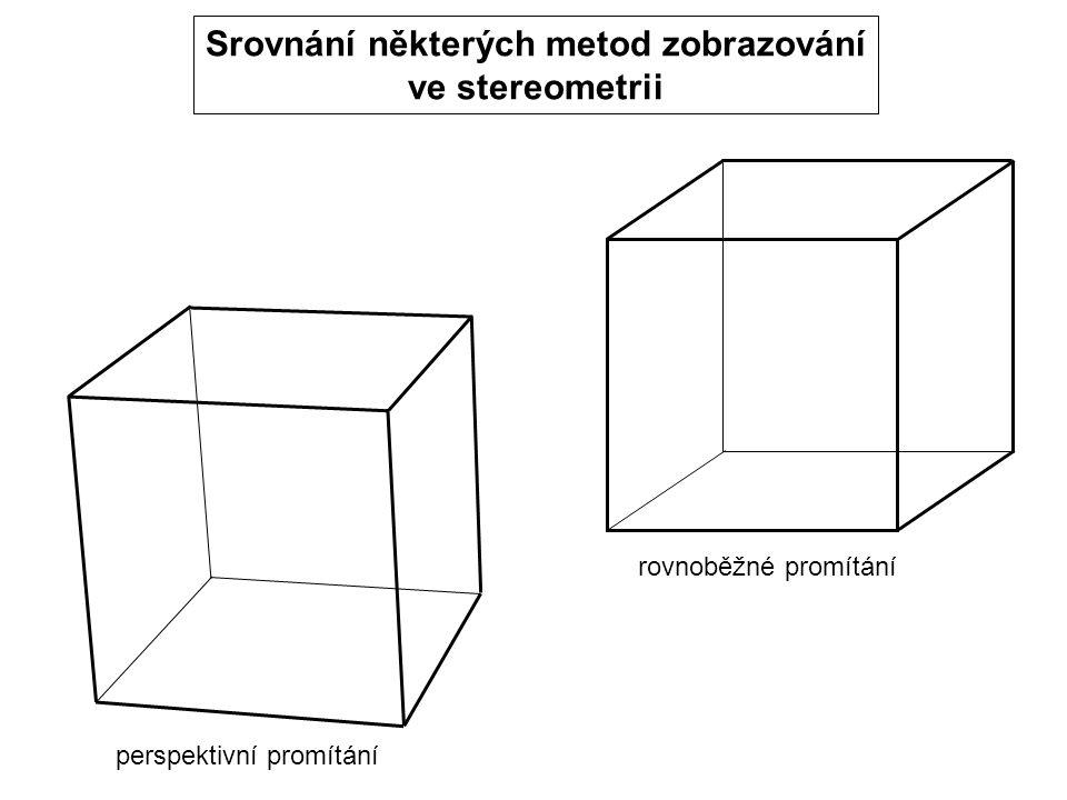 Srovnání některých metod zobrazování ve stereometrii rovnoběžné promítání perspektivní promítání