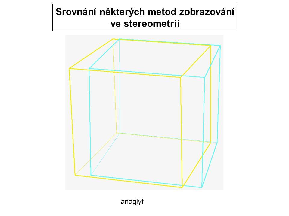 anaglyf Srovnání některých metod zobrazování ve stereometrii