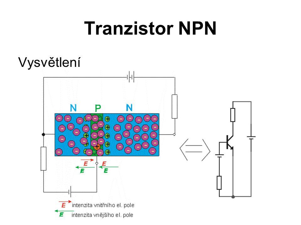 Tranzistor NPN Vysvětlení