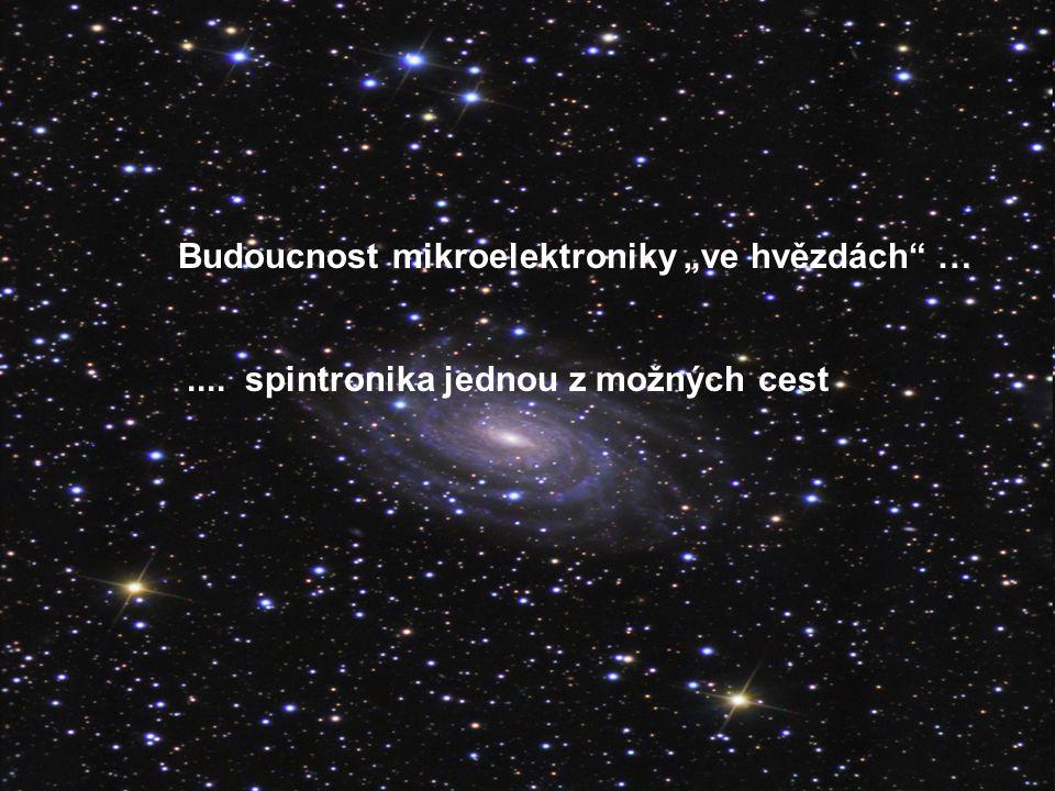 Spintronika – malé shrnutí Elektron nese elementární (záporný) naboj