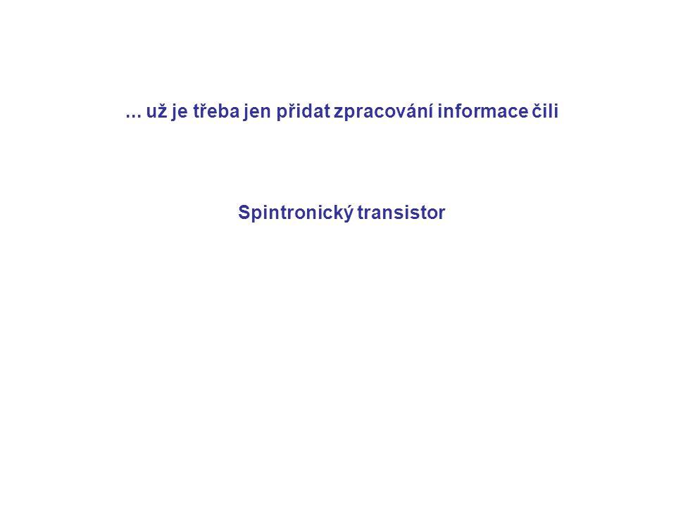 ... už je třeba jen přidat zpracování informace čili Spintronický transistor