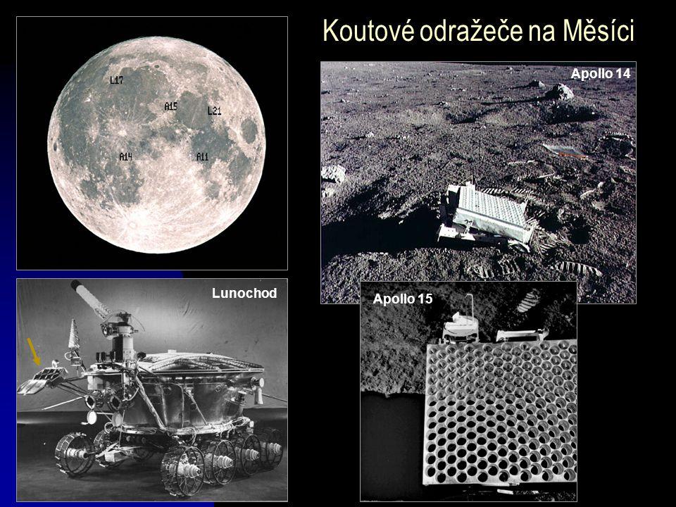 Apollo 14 Koutové odražeče na Měsíci Lunochod Apollo 15