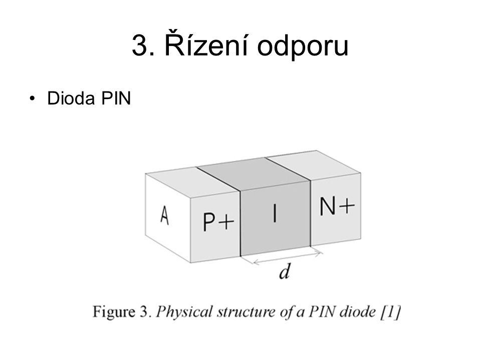 3. Řízení odporu Dioda PIN
