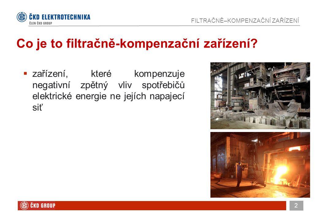 3 FILTRAČNĚ–KOMPENZAČNÍ ZAŘÍZENÍ  vysoké pokuty za jalovou energii od distributora elektřiny  jalový proud zatěžuje přenosovou soustavu, ale nevytváří žádnou práci  vyšší harmonické způsobují rušení jiných elektrospotřebičů Proč se používají filtračně-kompenzační zařízení?