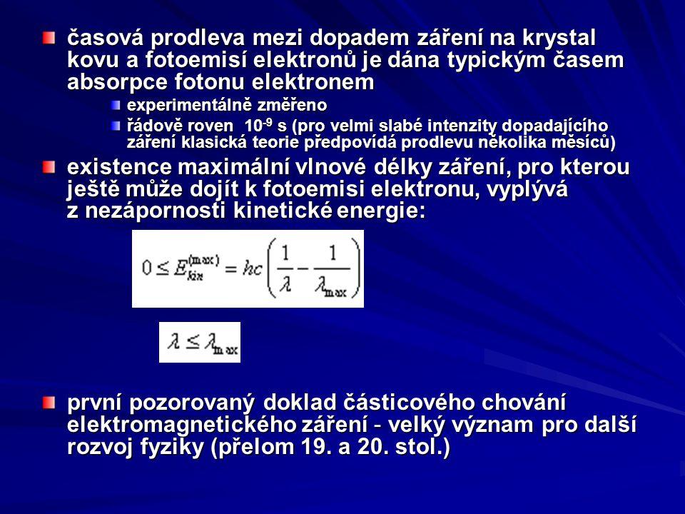 vnější fotoelektrický jev elektrony jsou uvolňovány z vodivostního pásu kovů a samotný krystal kovu opouštějí vnitřní fotoelektrický jev elektrony v polovodičích zpravidla samotný polovodič neopouštějí, pouze zvyšují jeho vodivost elektrony v polovodičích zpravidla samotný polovodič neopouštějí, pouze zvyšují jeho vodivost