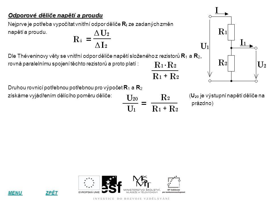 Řazení a základní výpočty odporů Sériové zapojení odporů V sériovém zapojení jsou odpory zapojeny za sebou, jak je znázorněno na obrázku. je znázorněn