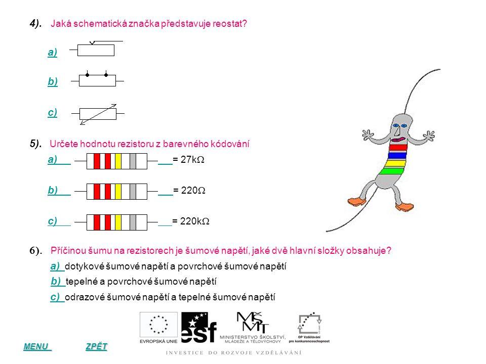 Kontrolní otázky k tématu 1). 1). Vysvětlete, proč se při průchodu proudu kovovým vodičem projevuje elektrický odpor? a) a) volné elektrony jsou závis