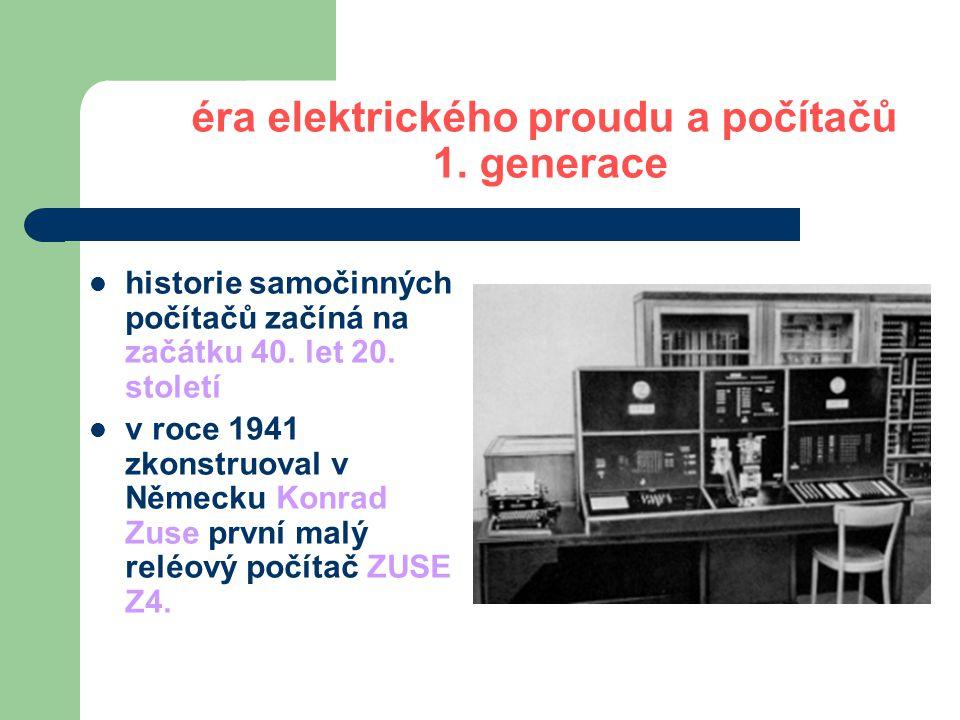 éra elektrického proudu a počítačů 1. generace UNIVAC