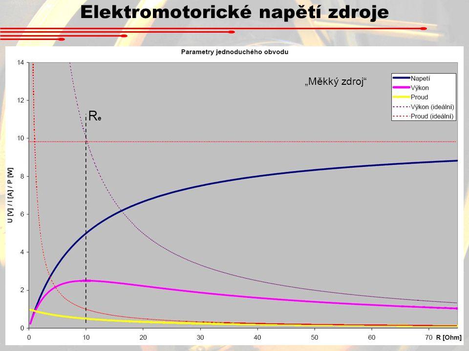 """Elektromotorické napětí zdroje """"Měkký zdroj"""