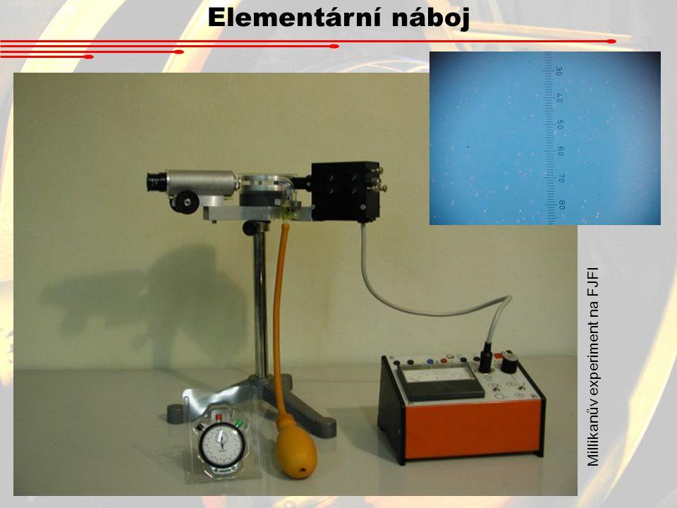 Elementární náboj Millikanův experiment na FJFI
