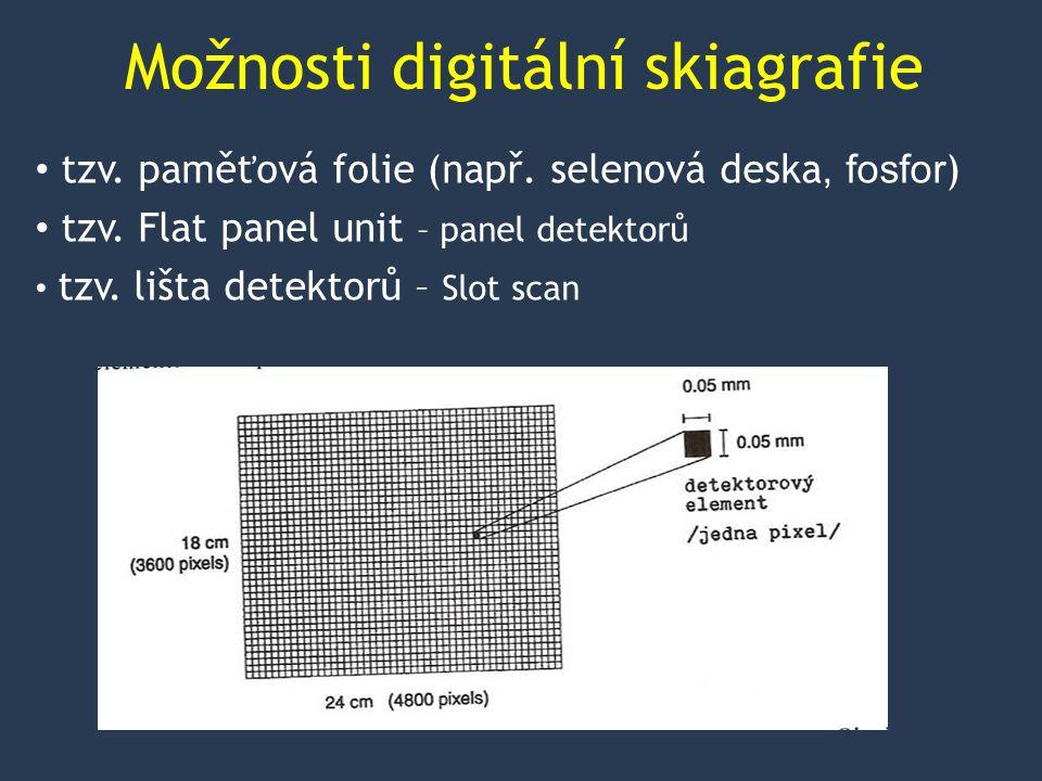 Možnosti digitální skiagrafie tzv.paměťová folie (např.