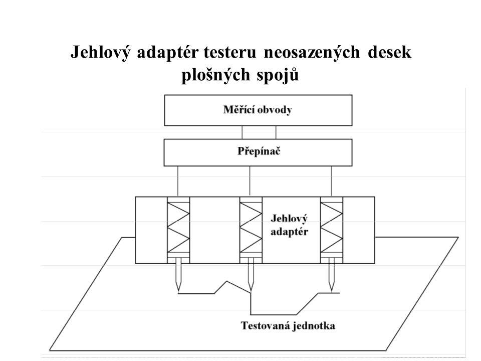 Jehlový adaptér testeru neosazených desek plošných spojů
