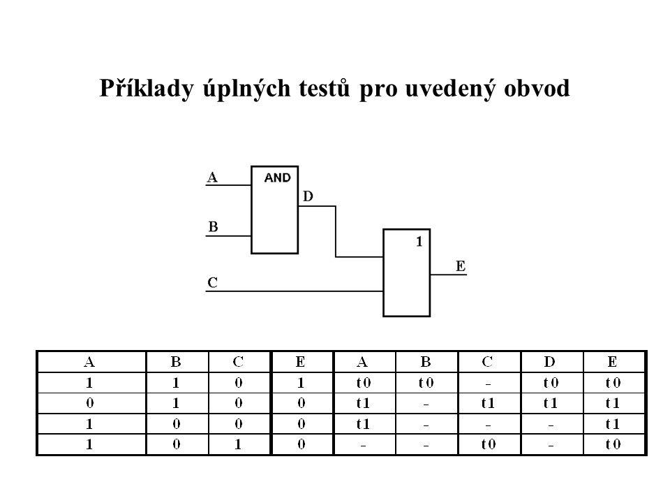 Příklady úplných testů pro uvedený obvod