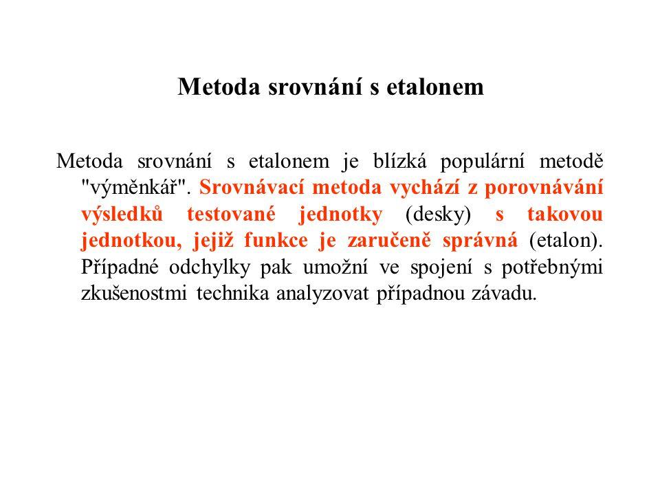 Metoda srovnání s etalonem Metoda srovnání s etalonem je blízká populární metodě