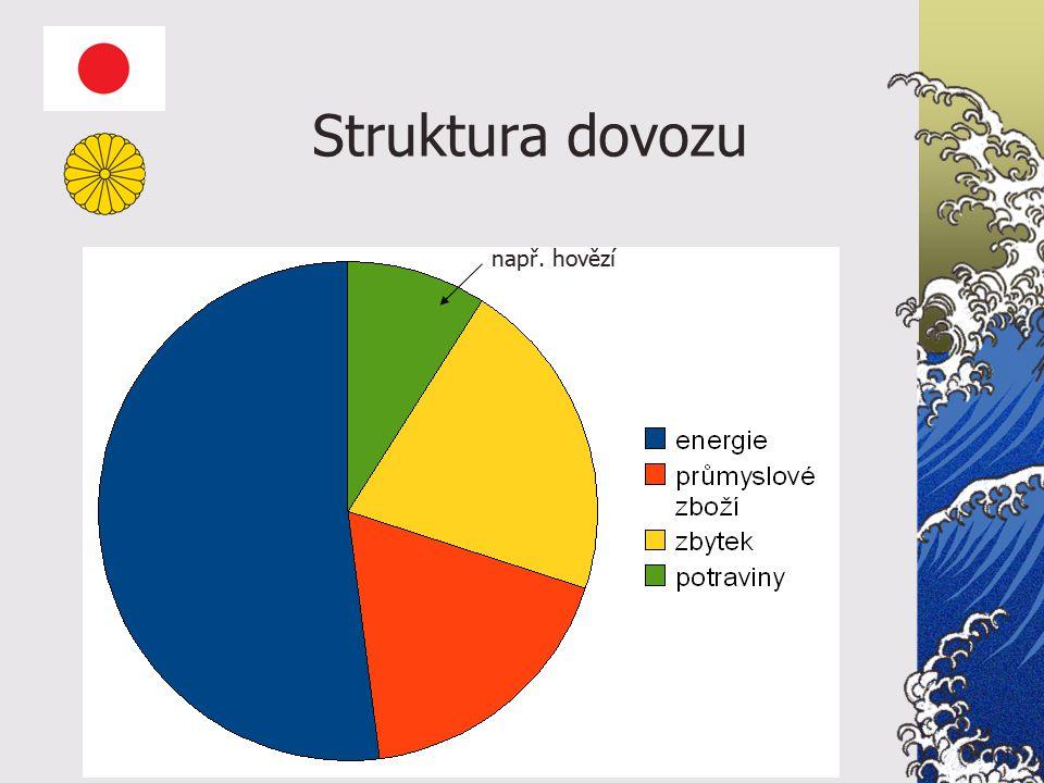 Struktura dovozu např. hovězí