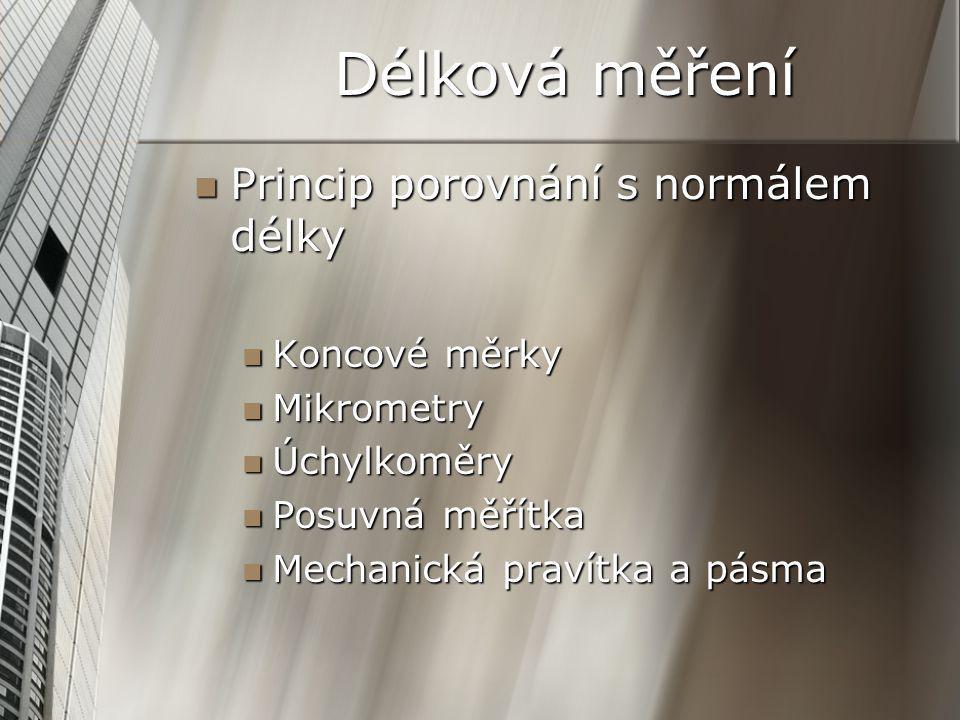 Ostatní délková měřidla Ostatní délková měřidla Hloubkoměry Hloubkoměry