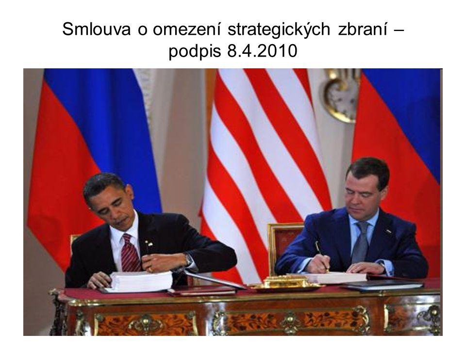 Smlouva o omezení strategických zbraní – podpis 8.4.2010