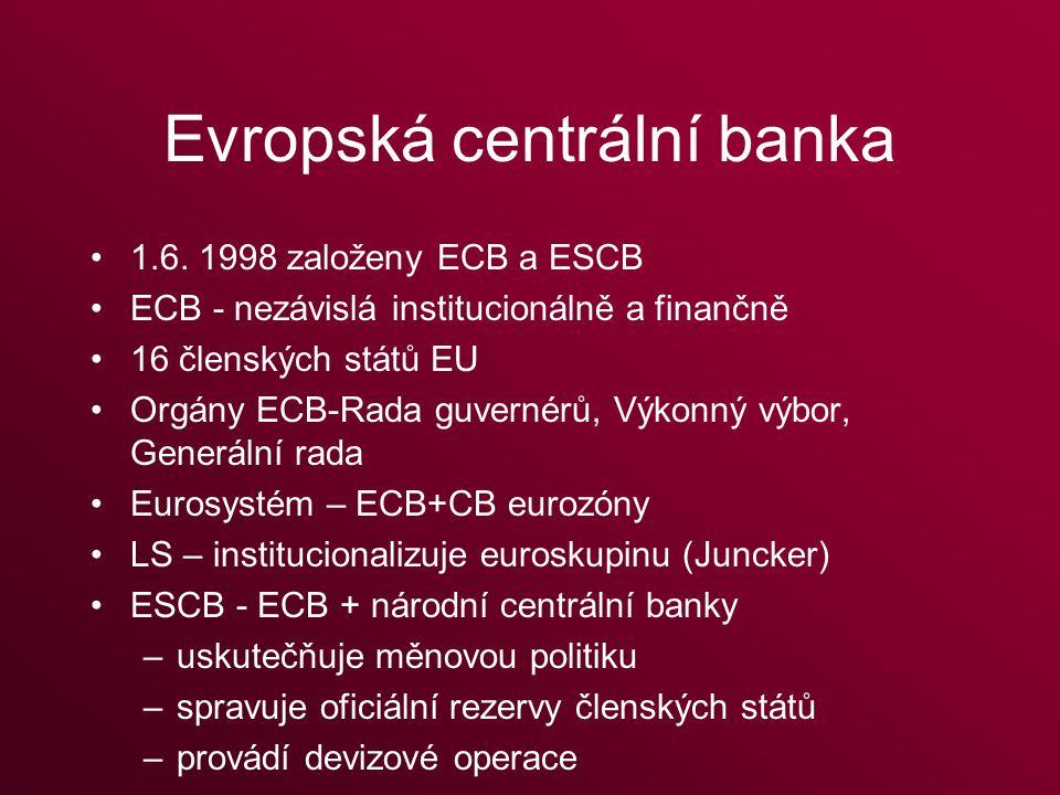 Evropská centrální banka 1.6.