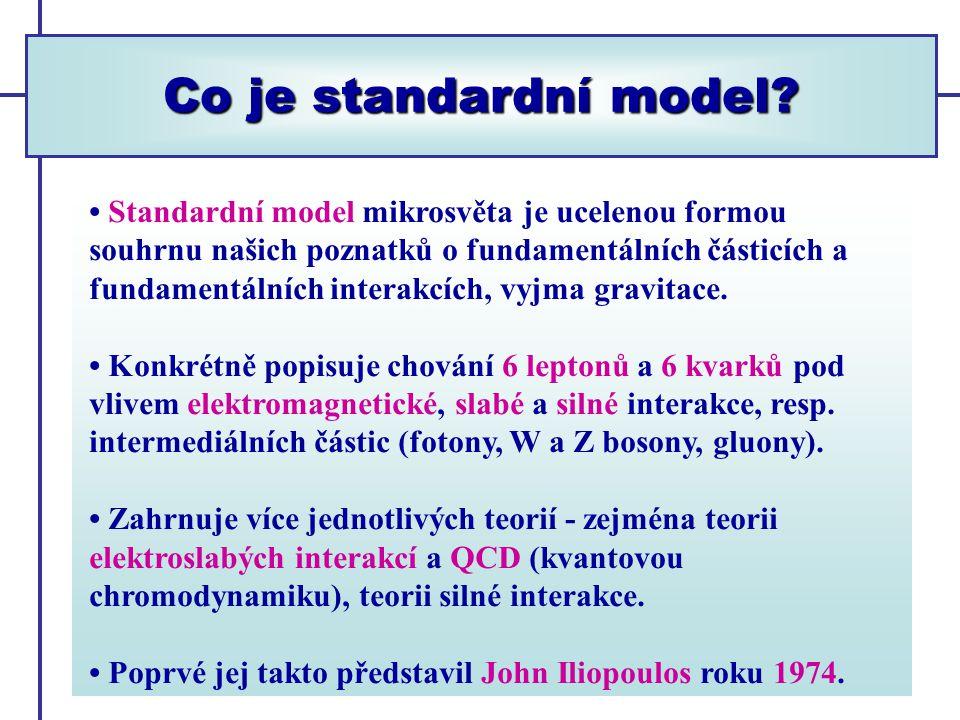 Co je standardní model.