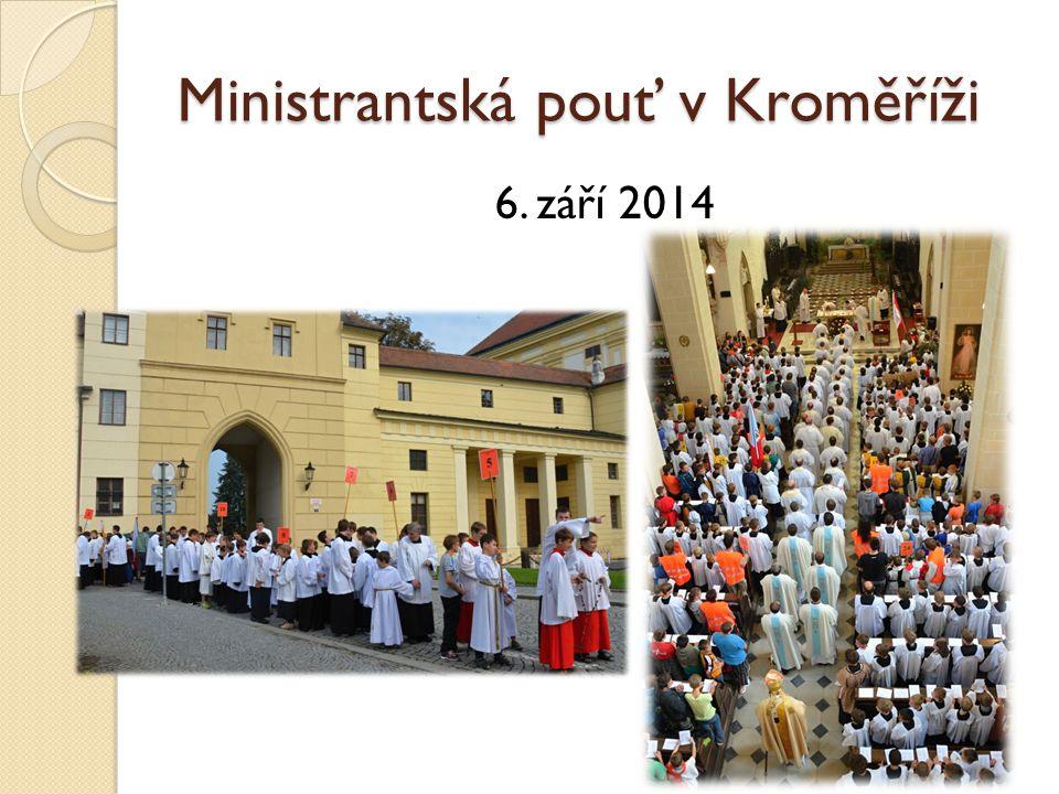 Ministrantská pouť v Kroměříži 6. září 2014