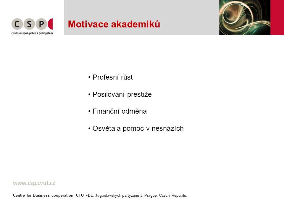 Motivace shora Centre for Business cooperation, CTU FEE, Jugoslávských partyzánů 3, Prague, Czech Republic
