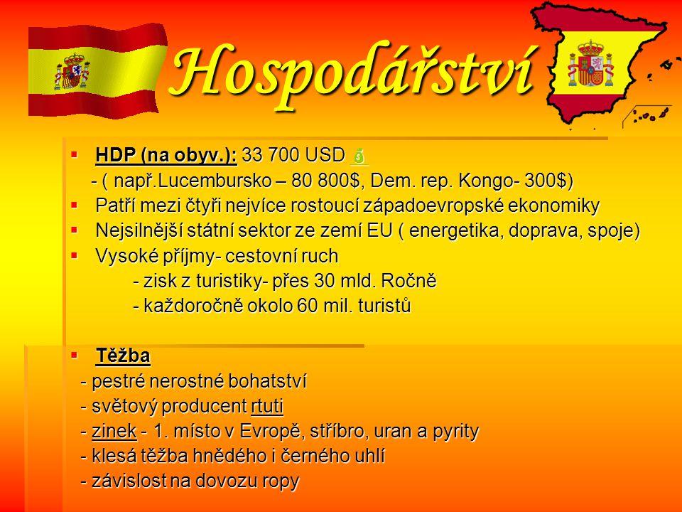 Hospodářství HHHHDP (na obyv.): 33 700 USD      - ( např.Lucembursko – 80 800$, Dem.