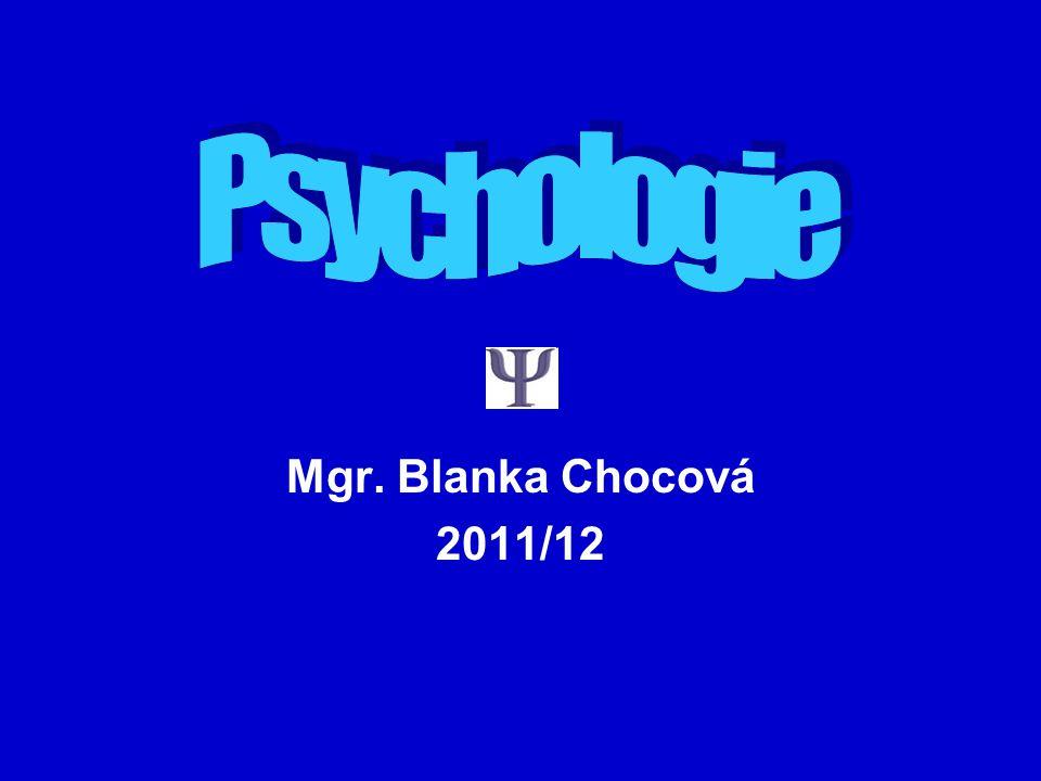 Mgr. Blanka Chocová 2011/12