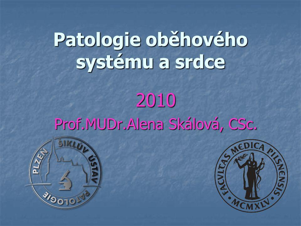 Patologie oběhového systému a srdce 2010 Prof.MUDr.Alena Skálová, CSc.