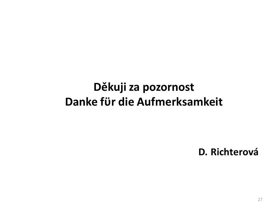 Děkuji za pozornost Danke fϋr die Aufmerksamkeit D. Richterová 27