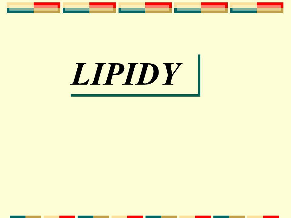 vyšší mastné kyseliny + alkohol Lipidy - složení fyz.