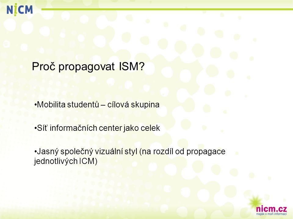 Proč propagovat ISM.