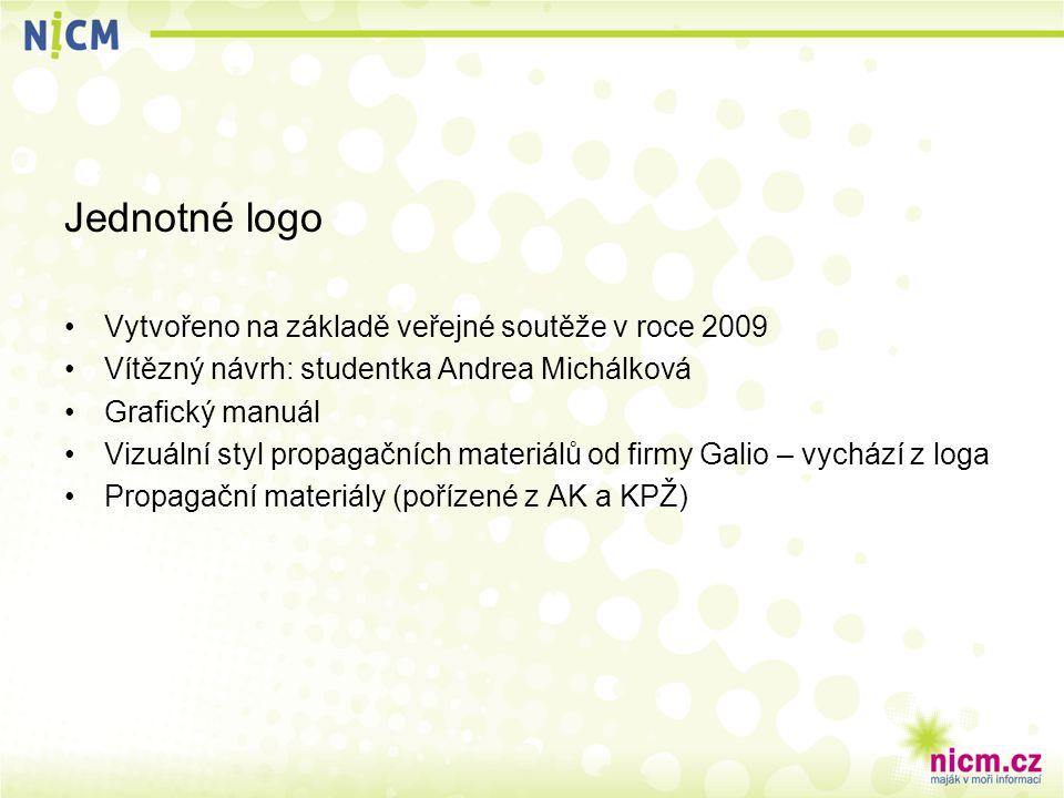Jednotné logo Vytvořeno na základě veřejné soutěže v roce 2009 Vítězný návrh: studentka Andrea Michálková Grafický manuál Vizuální styl propagačních materiálů od firmy Galio – vychází z loga Propagační materiály (pořízené z AK a KPŽ)