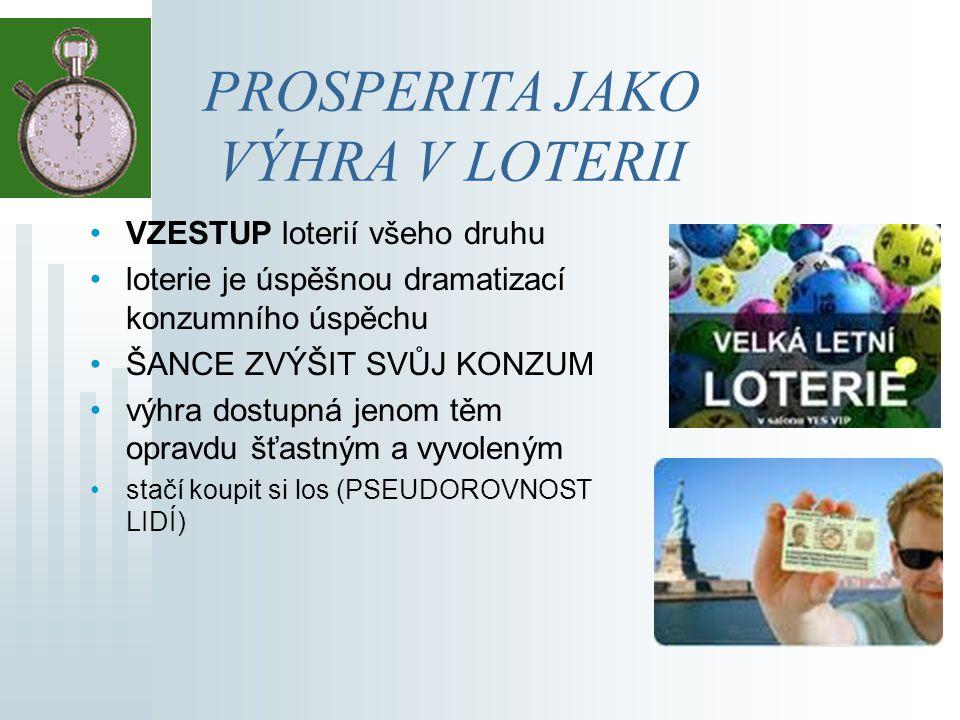 Jak nás loterie učí myslet.vztah mezi podaným výkonem a dosaženým úspěchem.